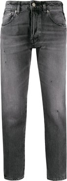 side band skinny jeans - Grey