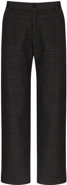 panelled wide leg chinos - Black