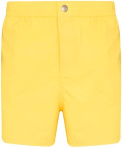 logo-print swim shorts - Yellow