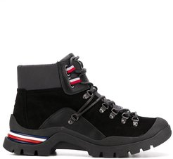 lace-up winter boots - Black
