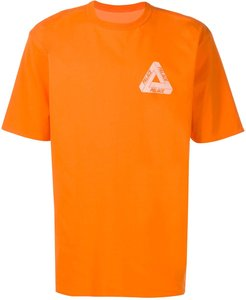 Reverso logo T-shirt - ORANGE