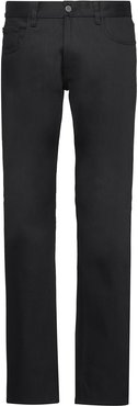low-rise straight jeans - Black