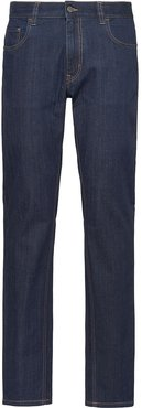 mid-rise straight jeans - Blue