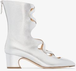 silver Juba 50 ankle boots