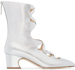 Juba 50mm ankle boots - SILVER