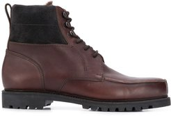 lace up ankle boots - Brown