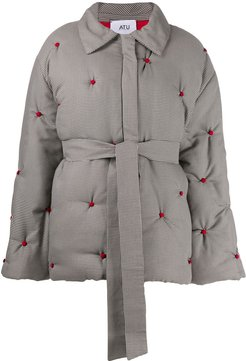 oversized quilted coat - Grey