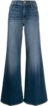 high-waisted wide jeans - Blue