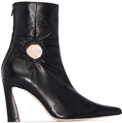Fory 80mm cut-out ankle boots - Black
