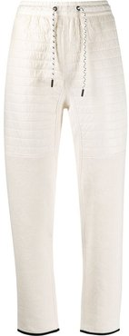 ribbed panels track trousers - White