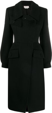 fitted formal coat - Black