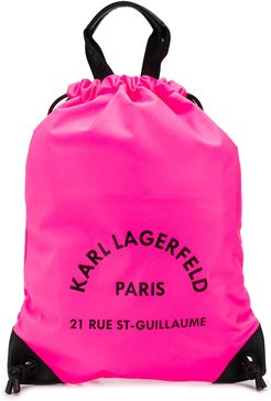 Rue St Guillaume drawstring backpack - PINK