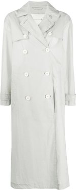 double-breasted trench coat - Grey
