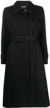 reversible belted trench coat - Black