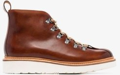 Brown Bobby Leather Hiking Boots