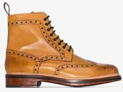 Tan Fred Leather Boots