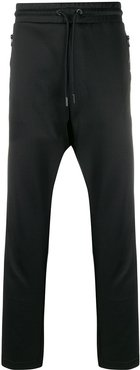 Track pants with knitted bands - Black