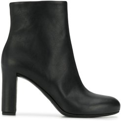 heeled ankle boots - Black