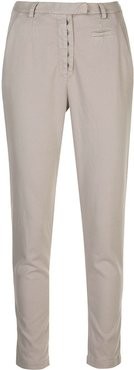 slim-fit chino trousers - Grey