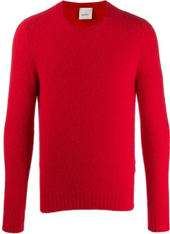 ribbed hem and cuffs jumper - Red