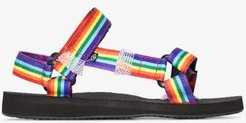 Multicoloured Rainbow sandals