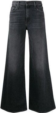high rise flared leg jeans - Black