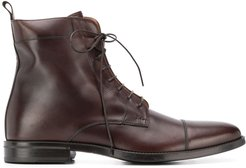 lace up boots - Brown