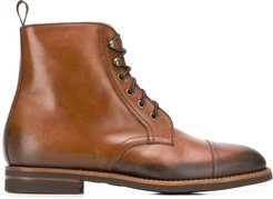 Paolo Caramello lace-up boots - Brown