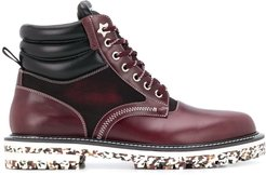 Odin lace-up boots - Red