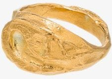24K gold-plated Florentine Echo ring