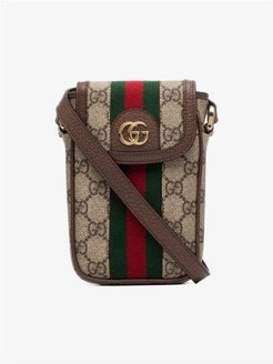 brown Ophidia GG Supreme iPhone bag