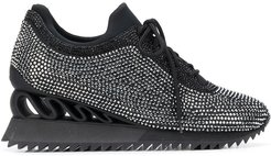 Reiko Wave crystal-embellished sneakers - Black