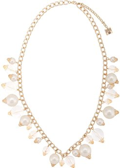 Lucite ball necklace - White