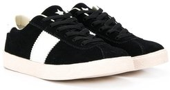 lace-up low-top sneakers - Black