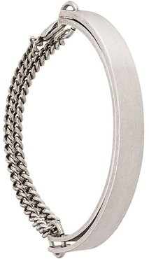 double plaque chain bracelet - SILVER