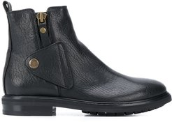 button over ankle boots - Black
