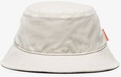 neutral cotton canvas bucket hat
