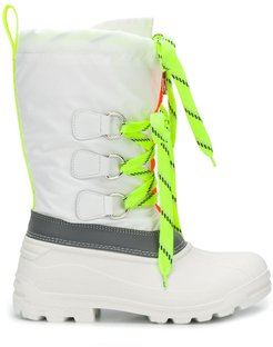 Ski Fluo Sonar lace-up boots - White