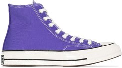 Purple Chuck 70 Vintage canvas high top sneakers