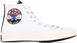 White Chuck 70 canvas panelled high top sneakers