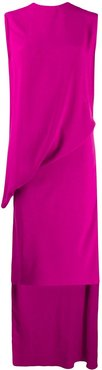 wrap flamenco jersey dress - PINK