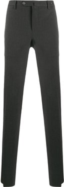 slim-fit tailored trousers - Grey