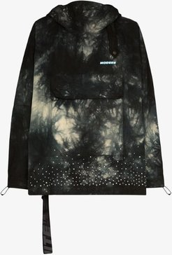 tie-dye embellished cotton jacket