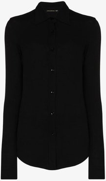 knitted slim fit shirt