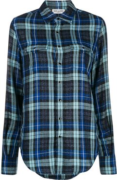 checked shirt - Blue