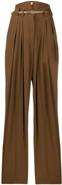 high rise darted trousers - Brown