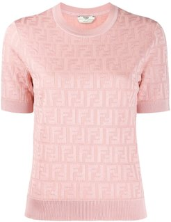 FF motif knitted top - PINK