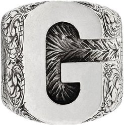 G letter ring - SILVER
