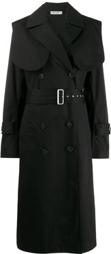double-breasted trench coat - Blue