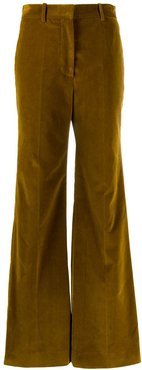 high waisted wide leg trousers - Brown